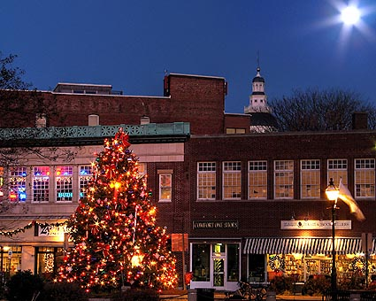 Christmas 2006 at the Annapolis Harbor under a Full Moon