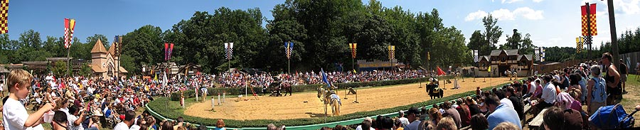 Ultra Wide Panorama of Maryland Rennasaince Festival Jousting