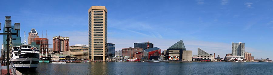 Baltimore Maryland, Inner Harbor Skyline